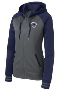 Picture of Sport-Tek® Ladies Sport-Wick® Varsity Fleece Full-Zip Hooded Jacketl (LST236)